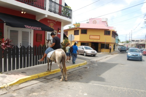 Yes..people ride horses on the streets