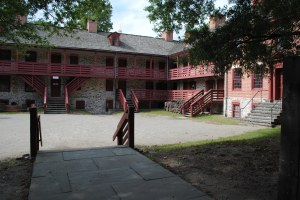 Old Revolutionary War barracks in downtown Trenton